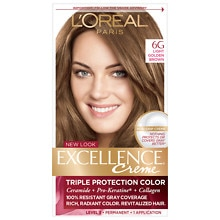 L'Oreal Paris Excellence Triple Protection Permanent Hair Color Creme Light Golden Brown 6G