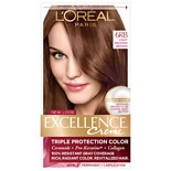 L'Oreal Paris Excellence Triple Protection Permanent Hair Color Creme Light Reddish Brown 6RB
