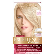 Triple Protection Permanent Hair Color Creme, Lightest Ultimate Blonde 10