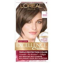Triple Protection Permanent Hair Color Creme, Medium Brown 5
