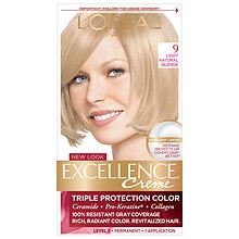 Triple Protection Permanent Hair Color Creme, Light Natural Blonde 9