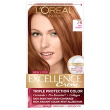 Triple Protection Permanent Hair Color Creme, Red Penny 7R