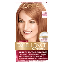 Triple Protection Permanent Hair Color Creme, Reddish Blonde 8RB Warmer