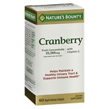 Nature's Bounty Cranberry Dietary Supplement Softgels