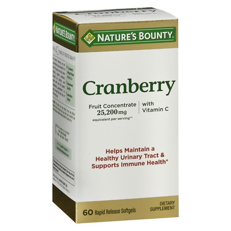 Nature's Bounty Triple Strength Natural Cranberry Softgels