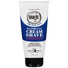Magic Shave Razorless Cream Shave, Regular Stregth Light Fresh Scent