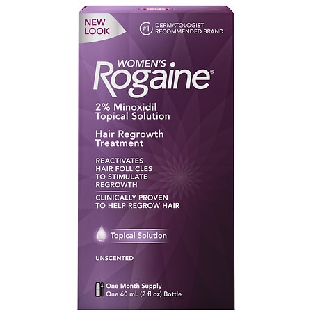 Women's Rogaine Hair Regrowth Treatment Topical Solution 1 Month Supply