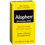 Alophen Enteric Coated Stimulant Laxative Tablets