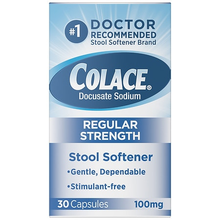 Colace Stool Softener 100 mg Capsules