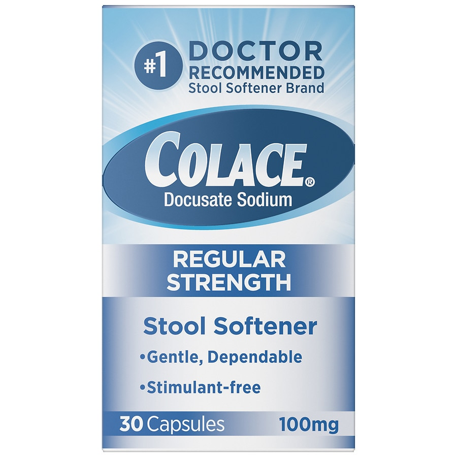 Colace Stool Softener 100 Mg Capsules Walgreens