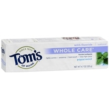 Tom's of Maine Whole Care with Fluoride Natural Toothpaste Peppermint