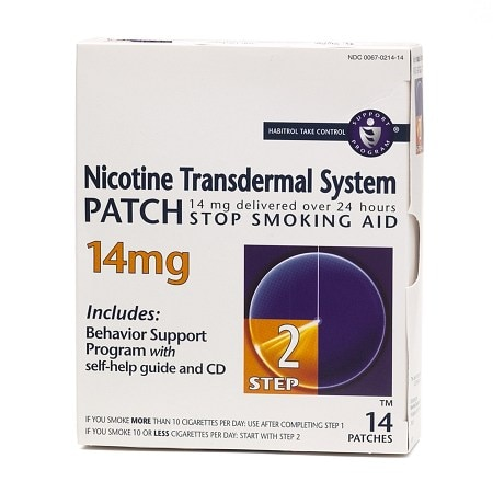Habitrol Nicotine Transdermal System, 14mg Stop Smoking Aid Step 2