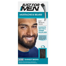 Mustache & Beard Brush-in Color Gel, Darkest Brown M-50