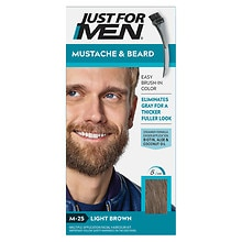Mustache & Beard Brush-in Hair Color Gel, Light Brown M-25