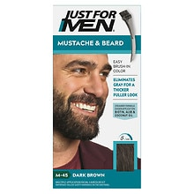 Mustache & Beard Brush-in Color Gel, Dark Brown M-45