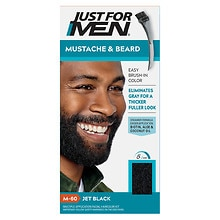 Just For Men Mustache & Beard Brush-in Hair Color Gel Kit Jet Black M-60