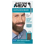 Just For Men Brush-In Color Gel for Mustache & Beard Light Medium Brown M-30