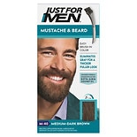 Just For Men Mustache & Beard Brush-in Hair Color Gel Light Medium Brown M-30