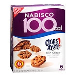 Nabisco 100 Calorie Packs Thin Crisps Baked Snacks 6 Pack Chips Ahoy!