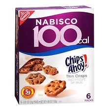 Nabisco 100 Calorie Packs Thin Crisps Baked Snacks 6 Pack