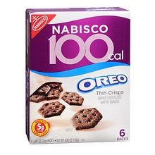 Nabisco 100 Calorie Packs Thin Crisps Baked Snacks 6 Pack Oreo Thin Crisps