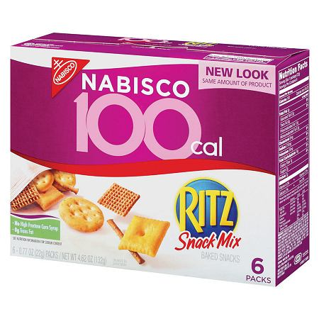 Nabisco 100 Calorie Packs Ritz Snack Mix