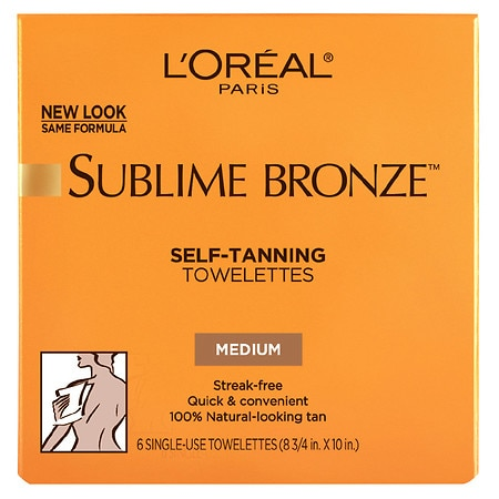 L'Oreal Paris Sublime Bronze Self-Tanning Towelettes for Body Medium