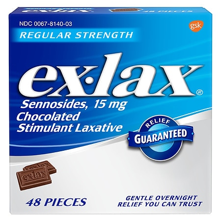 ex-lax Regular Strength Chocolated Stimulant Laxative Pieces