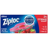 Ziploc Double Zipper Multi-Purpose Storage Quart BagsQuart