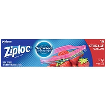 Ziploc Double Zipper Multi-Purpose Storage Gallon Bags Gallon