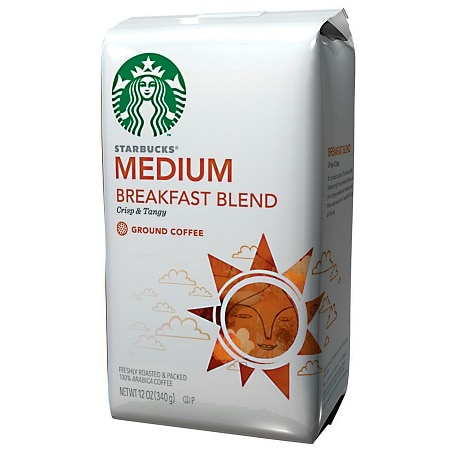 Starbucks Coffee Medium Roast, Breakfast Blend, Ground