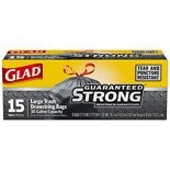 Glad Large Trash Bags, Drawstring, 30 Gallon