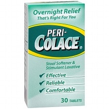 Peri-Colace Stool Softener & Stimulant Laxative Tablets