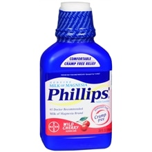 Phillips Milk of Magnesia Saline Laxative Liquid Cherry