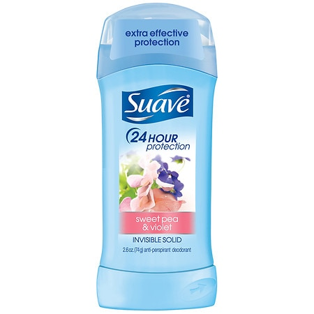 Suave Naturals 24 Hour Protection Anti-Perspirant Deodorant Invisible Solid Sweet Pea & Violet