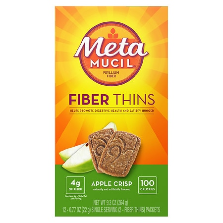 Metamucil Fiber Wafers Apple Crisp, 24 pk