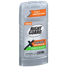 Right Guard Total Defense 5 Total Defense 5 Power Stripe Antiperspirant & Deodorant Invisible Solid Fresh Blast