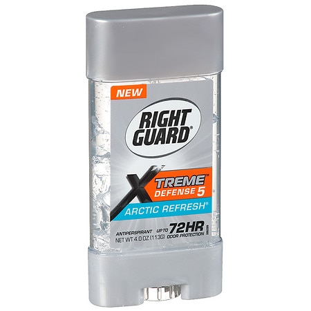 Right Guard Xtreme Defense 5 Power Gel, Antiperspirant & Deodorant Artic Refresh
