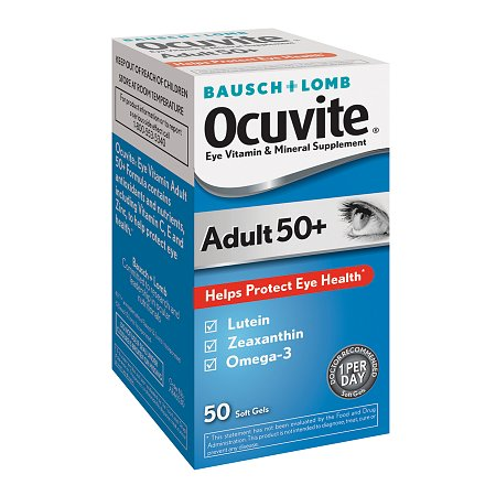 Ocuvite Adult 50+ Lutein & Omega 3 Eye Vitamin & Mineral Supplement Softgels