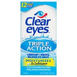 Clear eyes Triple Action Relief Lubricant/Redness Reliever Sterile Eye Drops