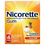 Nicotine Gum, 4mg Fruit Chill