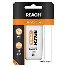 Reach Dentotape Waxed Floss Unflavored