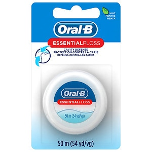 Oral-B Essential Floss Waxed Dental Floss, Mint