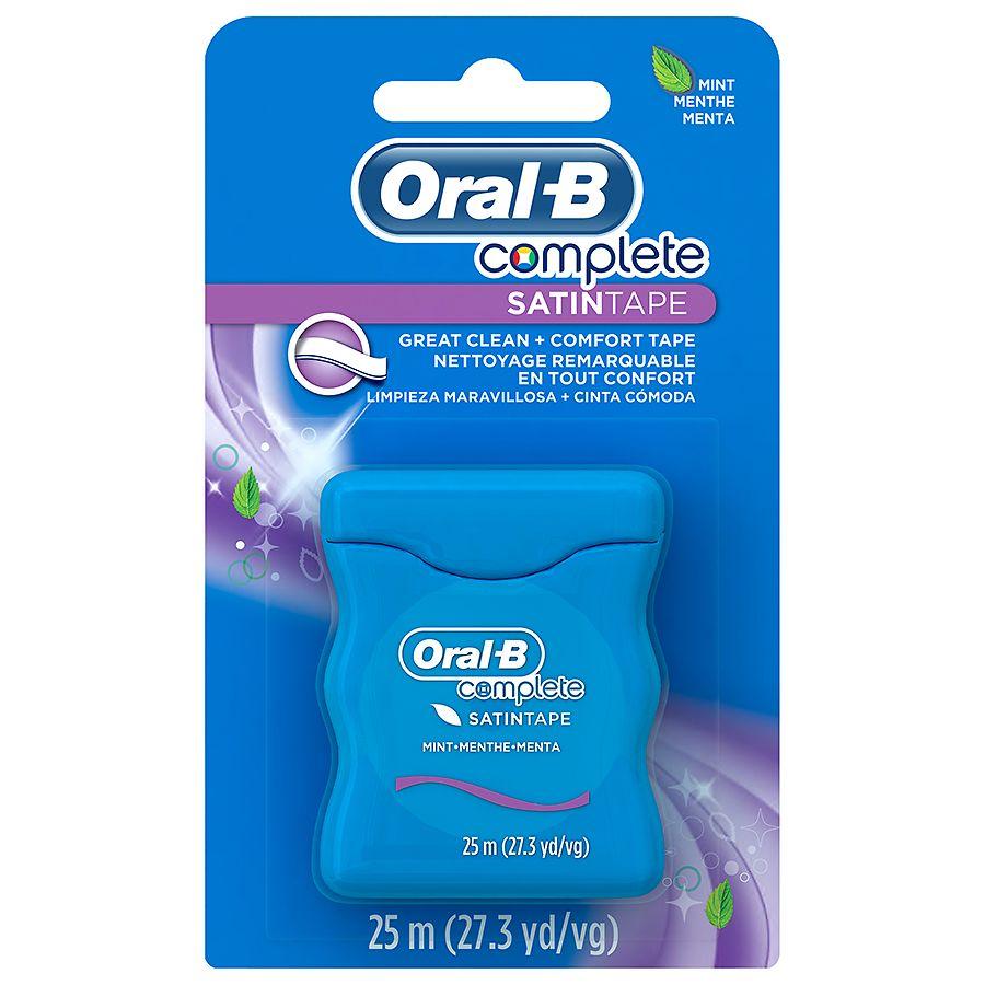 oral b complete satin tape floss mint walgreens. Black Bedroom Furniture Sets. Home Design Ideas