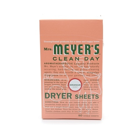 Mrs. Meyer's Clean Day Dryer Sheets Geranium