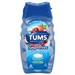 Tums Smooth Dissolve Smoothies Extra Strength 750 Antacid/Calcium Supplement Chewable Tablets Berry Fusion Berry Fusion
