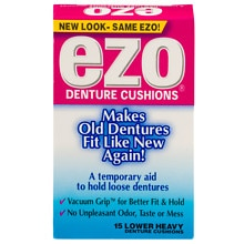 Ezo Lower Denture Cushions, Heavy