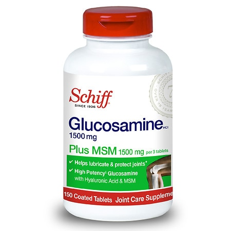 Schiff Glucosamine 1500mg + MSM 1500mg, Coated Tablets
