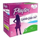 Playtex Gentle Glide 360° Plastic Tampons Unscented