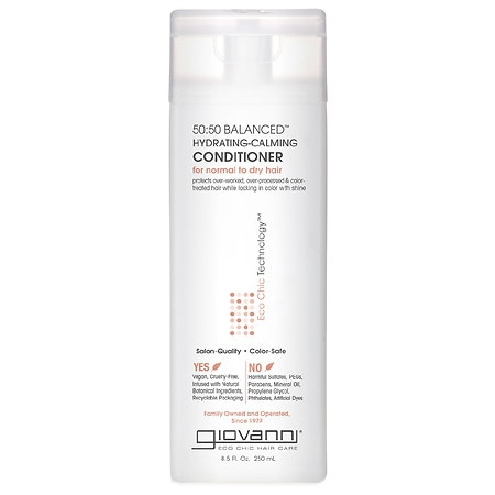 Giovanni 50:50 Balanced Hydrating-Calming Conditioner, for Normal to Dry Hair